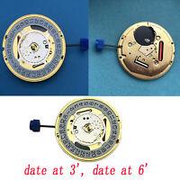 Swiss Date at 3' / at 6' O'Clock Quartz Watch Movement ETA F06.111  Kits Replace