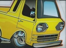 '61 -'67 Ford Econoline Pickup Tin Sign  in yellow
