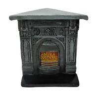 Dolls House Victorian Corner Cast Iron Fireplace Miniature 1:12 Resin Furniture