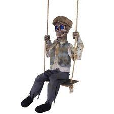 Swinging Skeletal Boy Animated Prop HALLOWEEN Undead Victorian Boy