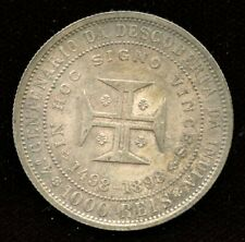1898 Portugal 1000 Reis - Commemorative Silver Coin - Discovery of India