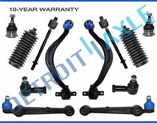 New 12pc Front Lower Control Arm w/ Ball Joint + Inner and Outer Tie Rod Kit