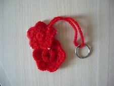Bag Charm Hand Knitted Knitted Red Snowflake Key Ring Toy