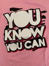 Dolph Ziggler You Know you Can Rise Above Cancer T-Shirt Small WWE Pink NXT WWF
