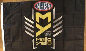 NHRA Drag Racing Flag 3x5 Mellow Yellow Series Banner Man cave Garage