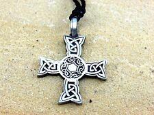 Kelten Kreuz von Clamorgan Keltisches Amulett Schmuckzinn Anhänger inkl. Band