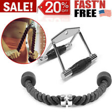 Yes4All Double D Handle Cable Attachment And Tricep Pull Down Rope Home Fitness