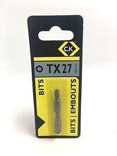 C.K TORX SCREWDRIVER BITS  TX27  T4557 27T