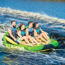 4 Person Towable Raft Water Sports Boat Inner Tube Inflatable Float Tow Tubing