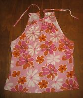 NEXT SIZE 12 PRETTY BEADED AND SEQUINED PINK AND PALE ORANGE FLORAL TOP