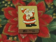 ~NEW CHRISTMAS HOLIDAY RUBBER STAMP~SANTA W/ CANDY CANE~STAMPEDE A504D RETIRED~