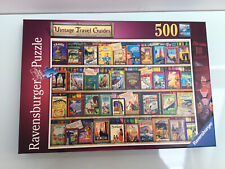 Ravensburger 500 piece jigsaw Vintage Holiday Guides. COMPLETE