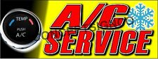 3'x8' A/C SERVICE BANNER LARGE Outdoor Sign Auto Shop Air Conditioning Repair