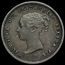 More details for 1846 queen victoria young head silver maundy fourpence, gvf