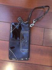 Coach LEGACY Purple Leather Wallet Wristlet Clutch Case Purse