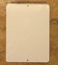 """10 Pieces of PARKING SIGN  ALUMINUM  SUBLIMATION BLANKS 9""""x 12"""" / WITH HOLES"""