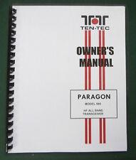 "TenTec 585 Paragon Instruction Manual: Full version with 11""X17"" Schematics!"