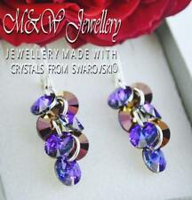 925 SILVER EARRINGS XILION RIVOLI - HELIOTROPE AB CRYSTALS FROM SWAROVSKI®