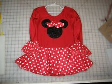 Cute Red with white polka dot figure skating dress Girl's 8