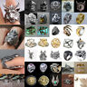 Men Women Stainless Steel Gothic Punk Ring Skull Dragon Finger Biker Band Rings