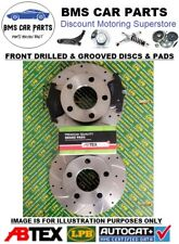 Ford Focus ST225 2.5 Front Drilled and Grooved Brake Discs and Abtex Brake Pads