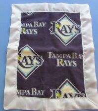 "TAMPA BAY RAYS Fleece & Satin Baby/Toddler Security Blanket 15"" x 19"""