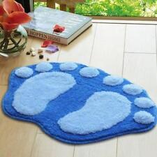 Floor Anti-Slip Water Absorbent Footprint Plush Mat Carpet Bathroom Kitchen