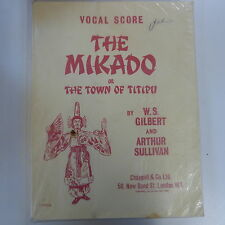 VOCAL SCORE Gilbert & sulliven il Micado