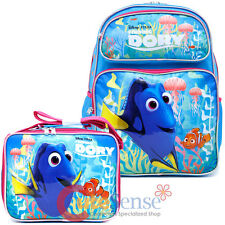 Finding Dory 16in School Backpack Lunch Bag Nemo 2pc Book Bag Set - Pink Coral