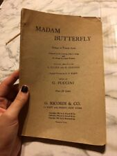 Madam Butterfly Opera in Three Acts Scrip Italian and english Version Pocket  Sz
