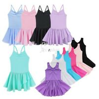 Kids Toddler Girls Ballet Gymnastics Tutu Dress Leotard Dance Wear Skirt Costume