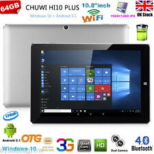 "10.8"" Tablet PC CHUWI Hi10 Plus Windows10 Android 5.1 4GB/64GB Dual Cameras 3G"
