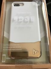 AUTHENTIC MVMT by iWARE HARDSHELL CASE EDGE iPhone 7 Plus Slide in WHITE-GOLD