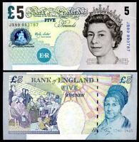 GREAT BRITAIN ENGLAND 5 POUNDS 2002 P 391 b UNC