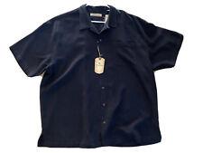 New Mens Tommy Bahama $110 Black Royal Bermuda Camp Shirt Size 2XL