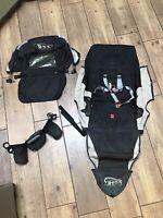 BOB Revolution Single Jogger Stroller FABRIC SEAT Cloth Canopy- Tan/ Black/Gray