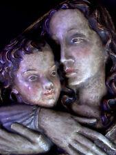 grosse  Wand Keramik SK TYROL -  Maria mit Jesuskind - Stil Bozener