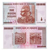 ZIMBABWE $5 Billion Dollars (2008) P-84 from the $100 Trillion bill series UNC