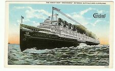 The Great Ship Seeandbee Steamship Buffalo Ny Cleveland Oh Ship postcard