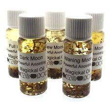 Conjunto completo de 5 Luna herbal botánico incienso aceites de infusión Magico