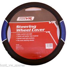SAKURA Racing Steering Wheel Cover Blue Mesh UNIVERSAL -ss1447