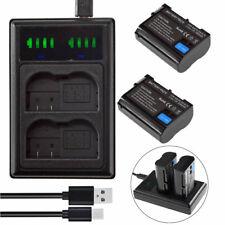 2X EN-EL15 Battery +LED USB Charger for Nikon D7000 D7100 D7200 D750 D800 D810