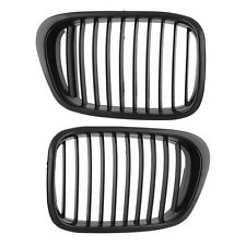 2x Matte Black Front Kidney Grilles Grill For BMW E39 525 528 530 535 M5 97-03