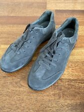 Lovely Gabor Geno Grey Nubuck Lace Up Trainers/Shoes 8