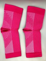 Compression Socks Plantar Fasciitis Sock Sleeve Arch Ankle Support (Pink)