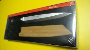 "Wusthof in box classic sushi knife black color 4526/23cm 9"" solingen germany"