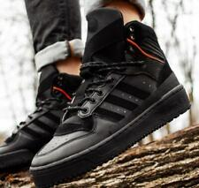 adidas Rivalry TR EE5528 Leather Mid Top High Shoes Sneakers Boots Black 8.5 NEW