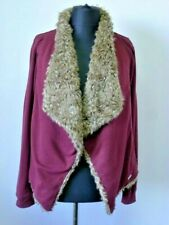 Womens Hollister Jacket blazer jumper sweatshirt Size small Medium Top faux fur