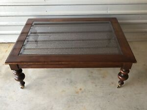 ETHAN ALLEN British Classics Old World Treasures Cane Coffee Table