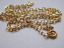 """18 quilates chapado En Oro Amarillo Diamante Cuadrado Bell Collar de cadena de 16 """" / 40 Cm Calidad Superior 18k.750"""
